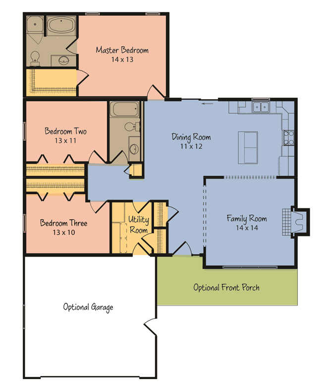 The atwater from terrace custom home builders in wisconsin for Custom home builder floor plans