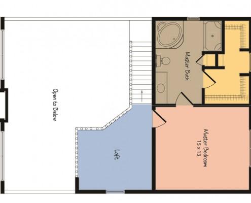 The Aspen Chalet Loft Plan
